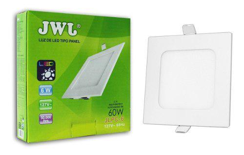 Plafon de led 6w empotrable slim luz blanca cuadrado jwj