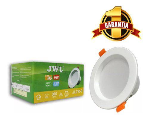 Plafon de led de 9w bote de 12 cm luz blanca jwj