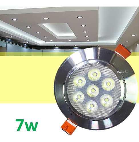 Spot led 7w foco dirigible alta calidad y potencia real tipo