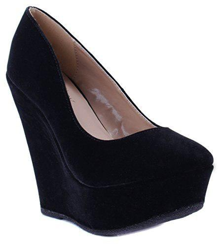 Zapatos delicadeza para mujer trendy-33 tacon alto negro 7 d