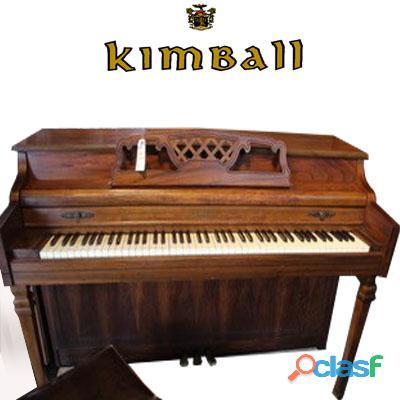 Piano tipo espineta marca kimball, madera de roble.