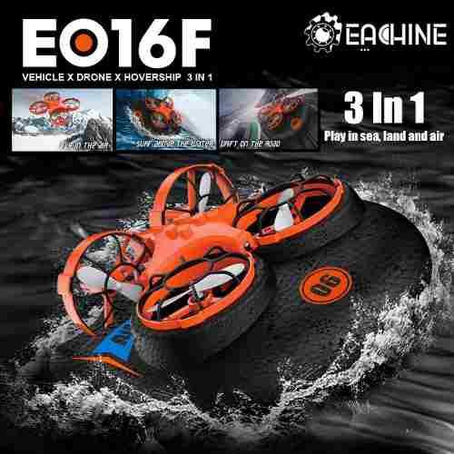 3 batería opcional] eachine e016f 3 en 1 flying air boat