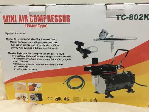 Compresor para aerógrafo,con aerógrafo y manguera