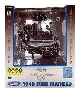 Hawk escala 1/6 ford flathead v8 motor fundido réplica