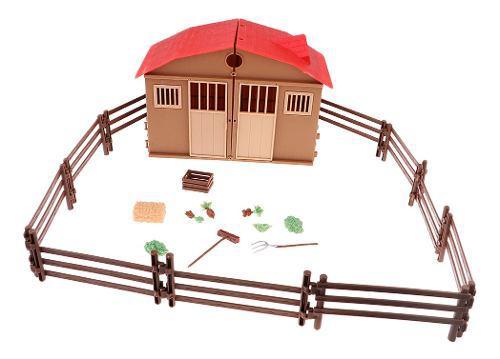 Modelos juguetes casa de granja kit para escena de mesa de