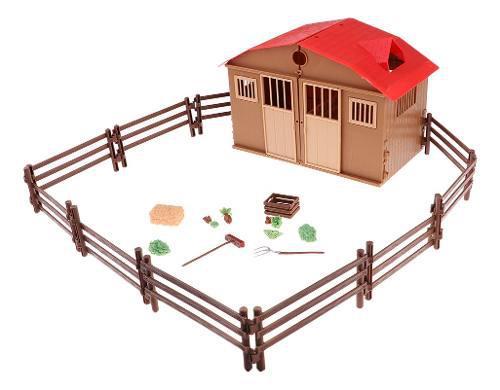 Modelos kit de casa de granja juguete para niño accesorios