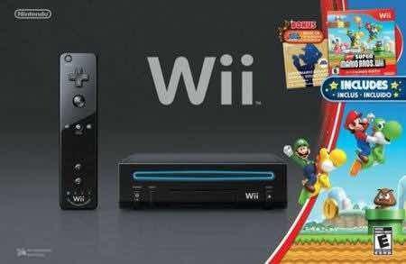 Nintendo wii negro con 10 juegos originales