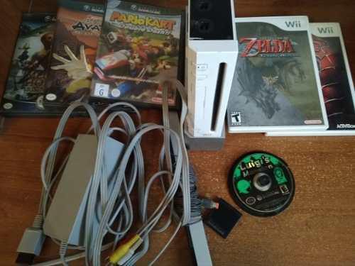 Wii con chip juegos y controles barato oferta