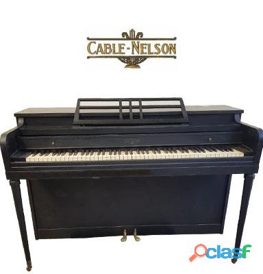 Piano espineta marca cable nelson black
