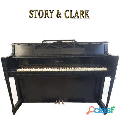 Story & clark, piano espineta color negro.