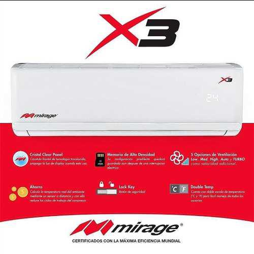 Minisplit mirage x3 220 volts frio y calor