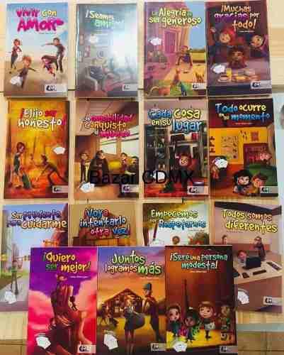 Pack 15 libros sobre valores y buenos modales infantiles pk