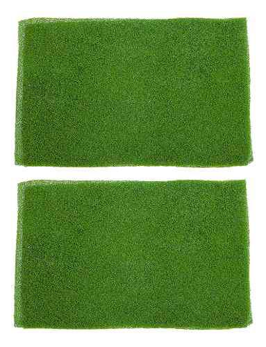 2 piezas decoración césped alfombra de hierba paisaje ferr