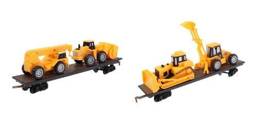 2x modelos de trenes de contenedores de carga ho gauge para