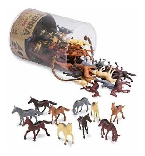 Figuras de animales salvajes battat terra caballos horses