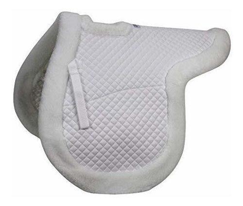 Inglés spine socorro saddle pad acolchada de forro polar