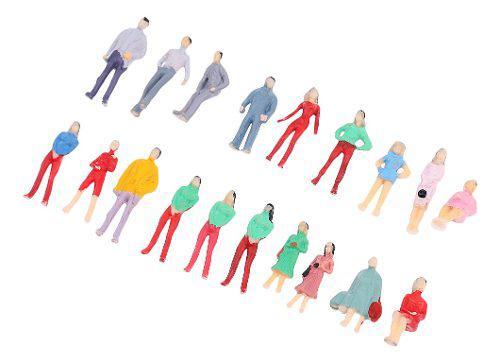 Modelo de diseño personas figura tren ho pintado 1/75 para