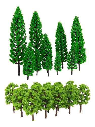Modelo de árbol verde escala 1/150 1/50 para modelismo