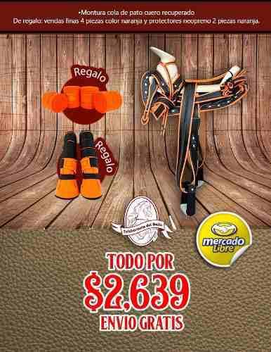 Montura cola de pato c/recuperado negro/ naranja 2 regalos