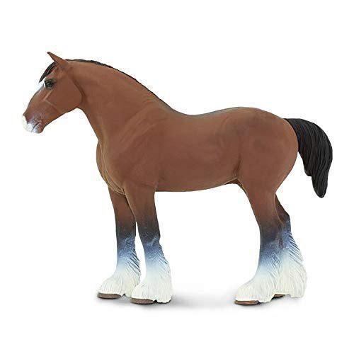 Safari ltd ganador del círculo caballos clydesdale semental
