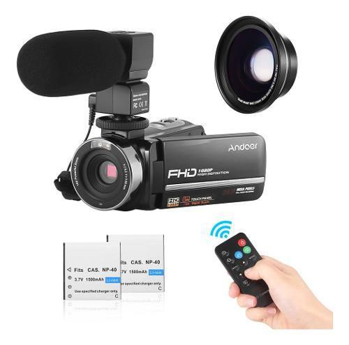 Andoer con videocámara digital andoer hdv-301ltrm 1080p fhd