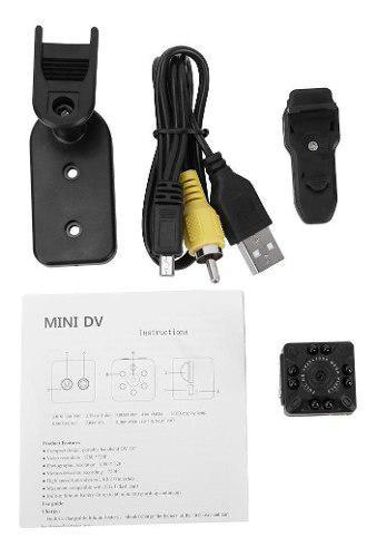 Mini cámara 1280p full hd visión nocturna videocámara