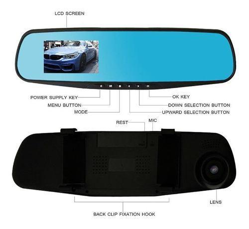 Videocámara dual hd para tablero de auto