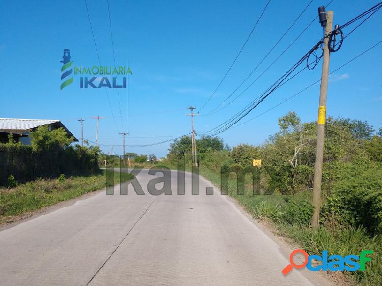 Venta terreno 11.5 hectáreas zona industrial cobos tuxpan veracruz, la victoria