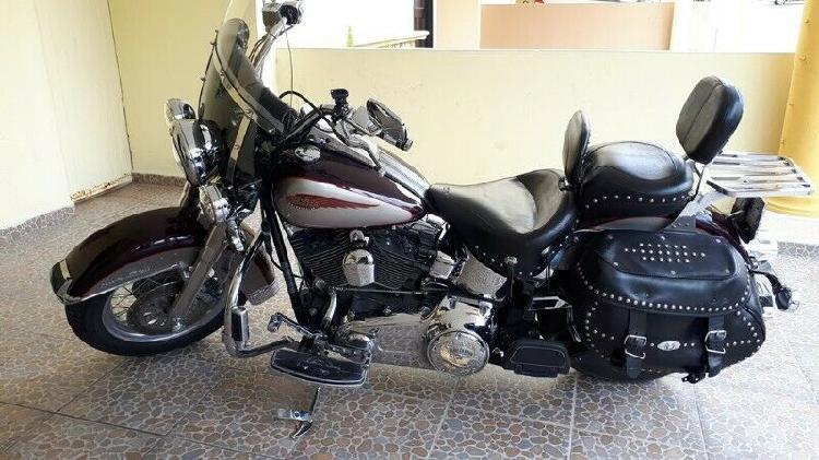 Harley heritage softail classic 2007 flstc en buenas
