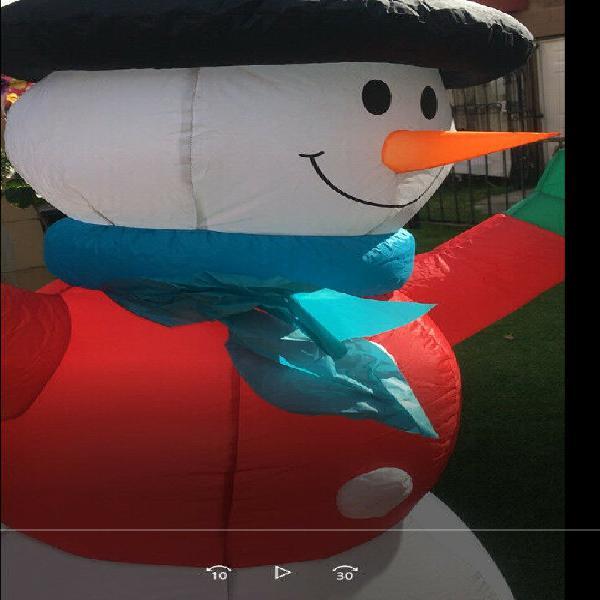 Inflable muñeco de nieve