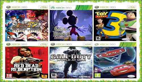 Juegos xbox 360 toy story 3,cars, mickey mouse, call of duty