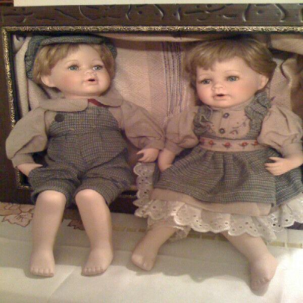 Muñecos de porcelana antiguos