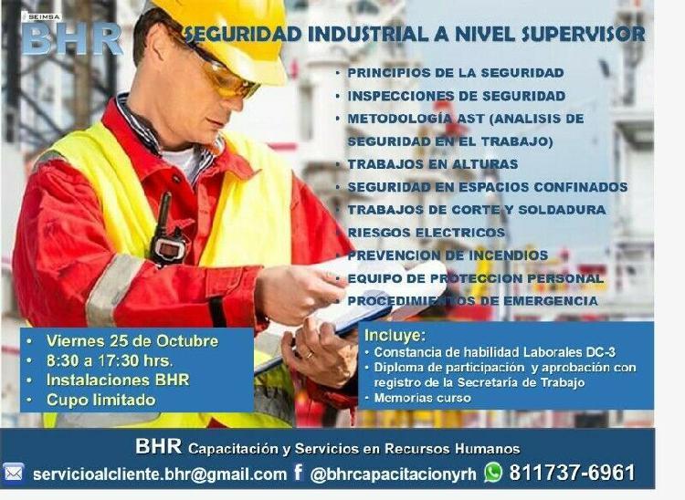 "Curso ""seguridad industrial a nivel supervisor"""