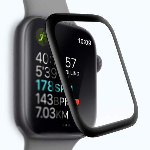 Mica de cristal templado curva para apple watch 40mm 44mm