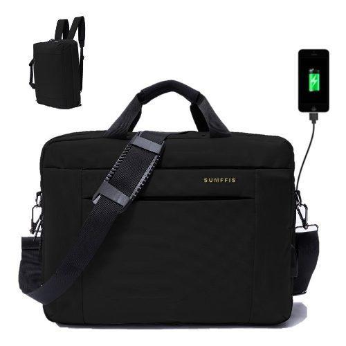Mochila portafolio maletin backpack para laptop de hasta 16