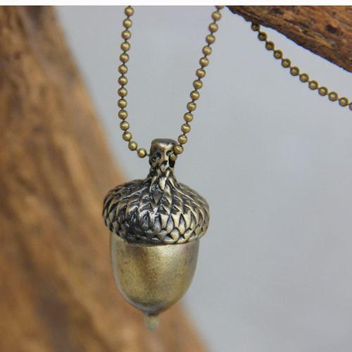 New collar dije bellota, naturaleza bronce envio gratis