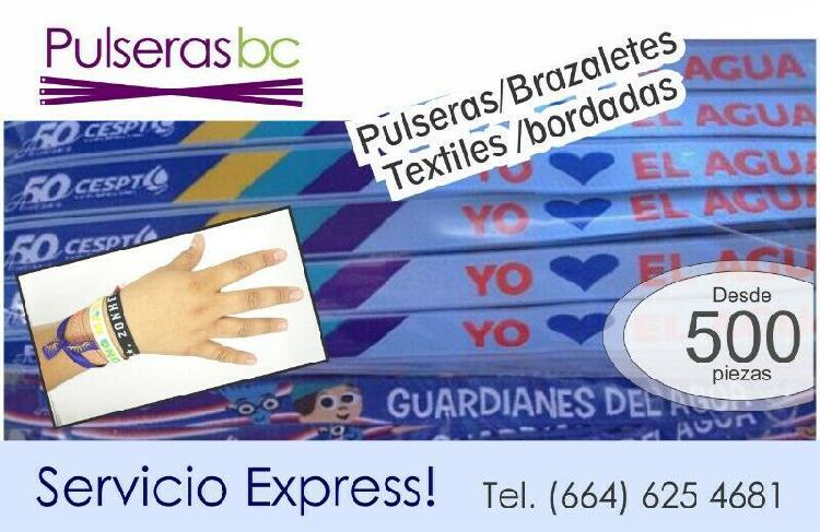 Pulseras bordadas personalizadas en tijuana