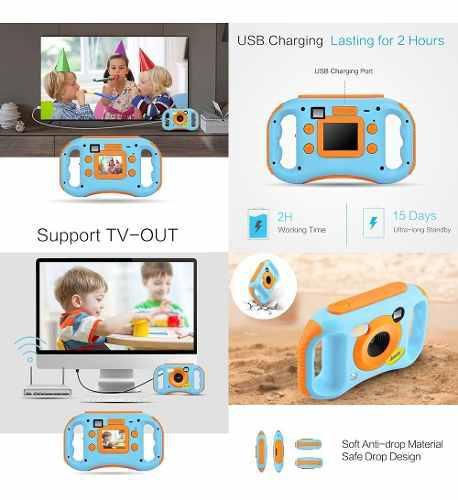 Amkov niños digital vídeo cámara wifi conexión máx. 5