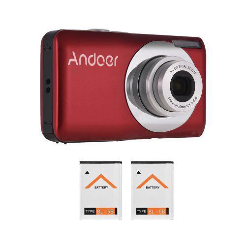 Andoer 16mp 720p hd cámara digital videocámara con 2pcs