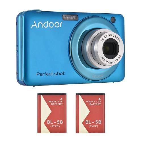 Andoer 20mp 720p hd cámara digital videocámara con 2pcs