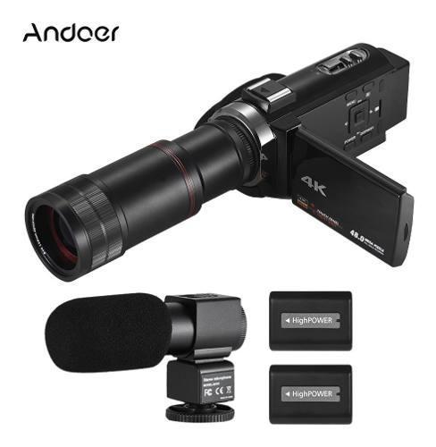 Andoer 4k hd cámara de video digital videocámara dv