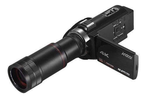Andoer 4k hd cámara vídeo digital videocámara dv 16x