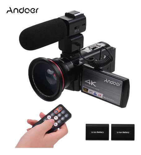 Andoer hdv-ae8 4k wifi cámara de vídeo digital