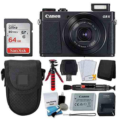 Camara digital canon powershot g9 x mark ii negro tarjet