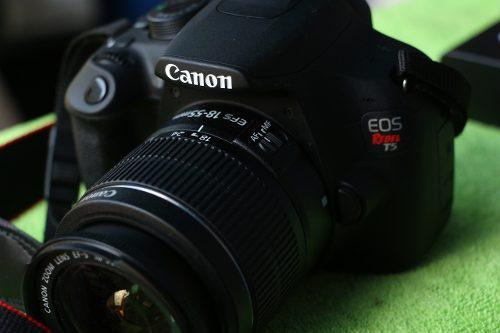 Canon t5 + lente 18-155 18 megas video full hd