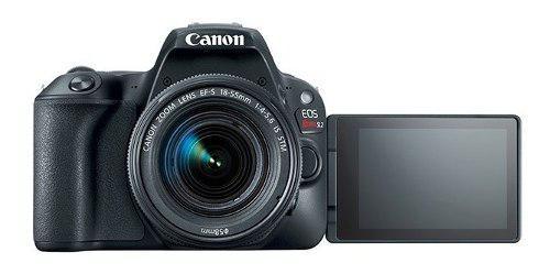 Cámara canon rebel sl2 video full hd lente 18 55 y 75 300