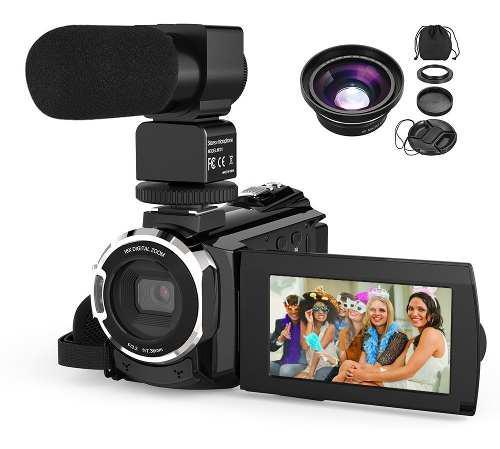 Cámara de video digital andoer 4k 1080p 48mp wifi con lente