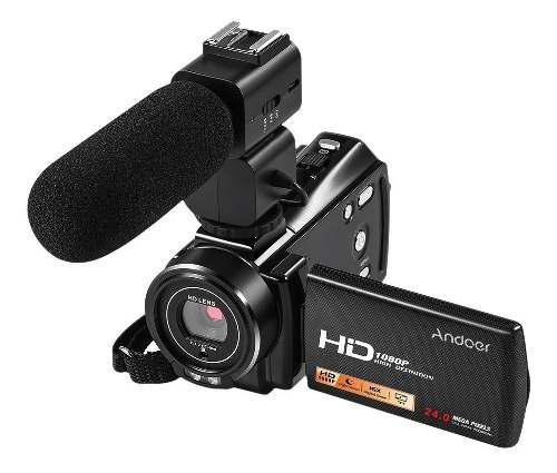 Cámara de video digital andoer ac3 4k uhd 24mp