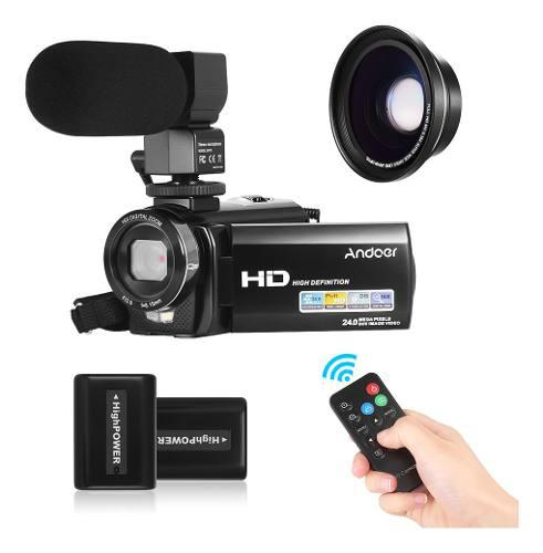 Cámara de video digital andoer hdv-201lm 1080p fhd dv