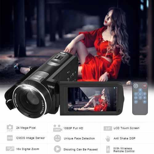 Cámara vídeo digital 1080p completo hd camcorder 16